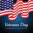 US Flag Veterans Day.