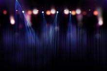 Blurred Lights On Stage, Abstr...