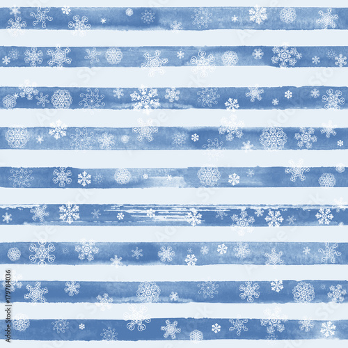 Cotton fabric Abstract winter blue background