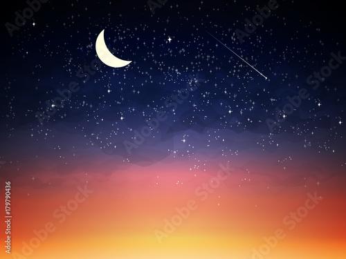 Photographie Purple sky in twilight dark night.
