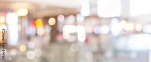 Blurred abstract background with indistinct shiny bokeh light Billede på lærred