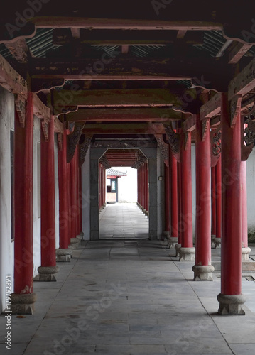 the especially art of Chinese style at the part of temple.