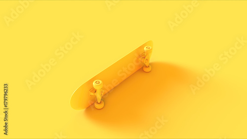 Yellow Skateboard