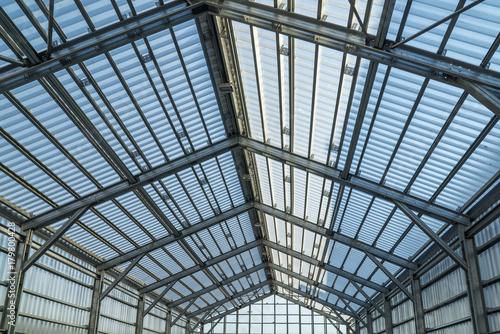Aluminium Prints Train Station empty barn