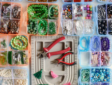 Colorful Beads And Instruments