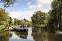 Narrow Boat Moored On The Avon...