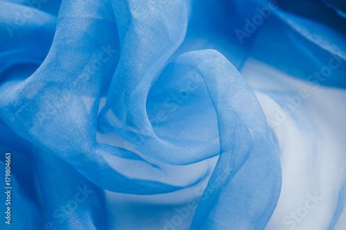 Obraz na plátně Blue semitransparent textile