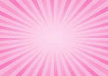 Abstract Soft Pink Rays Background. Vector