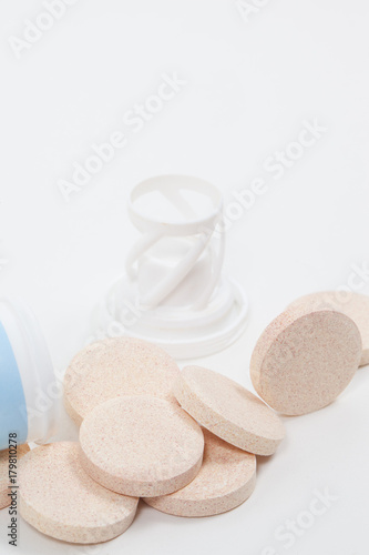 Poster Spa Vitamin C fizzy tablets with packaging