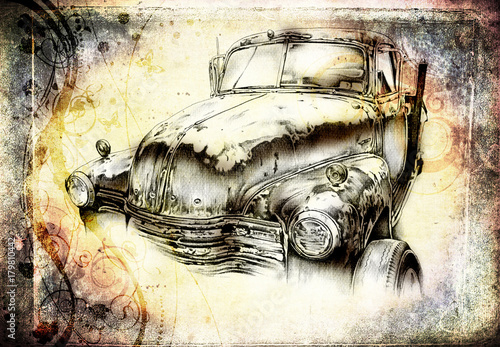 stary-klasyczny-samochod-retro