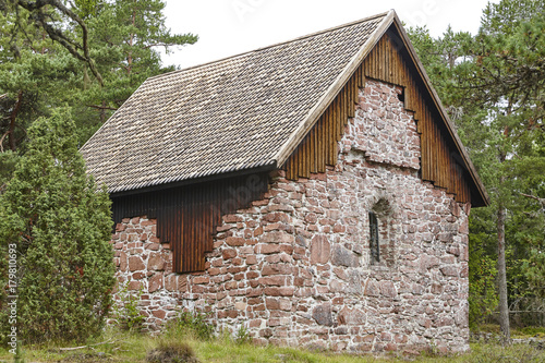 фотография St. Olof chapel in Aland islands. Lembote site. Finland