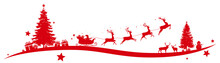 Christmas Border With Flying S...
