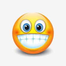 Cute Smiling, Grinning Emotico...