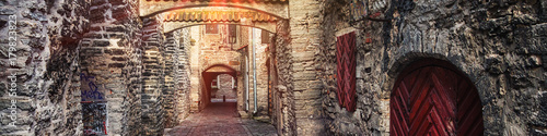 Cuadros en Lienzo  St. Catherine's Passage in Tallinn, Estonia