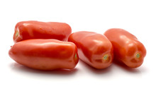 Four San Marzano Tomato Isolat...