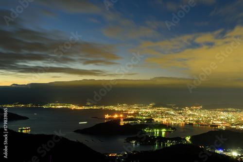 Foto op Aluminium Palermo 広島の夜景 絵下山からの眺め