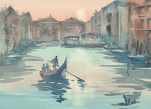 Venice Sketch In The Morning M...