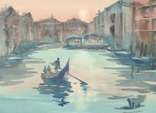 Venice Sketch In The Morning M...