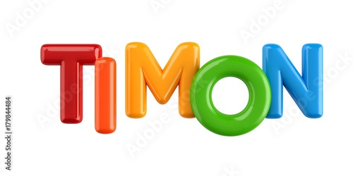 Photo  Bubbletext Name Timon