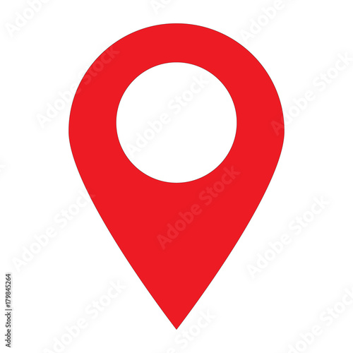 location pin icon on white background location pin sign flat style