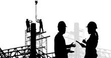 Silhouette Construction Team W...