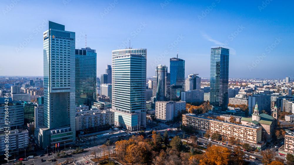 Warszawa z lotu ptaka <span>plik: #179849426 | autor: Aleksander</span>