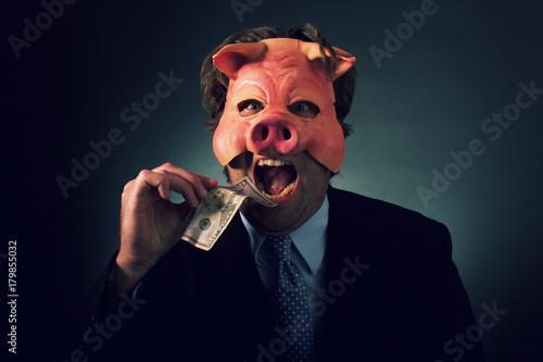 Fotografia, Obraz Greedy Pig