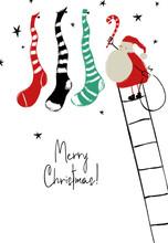 Santa Hanging Christmas Stocki...