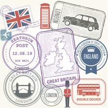 Travel Stamps Set - Great Brit...