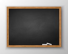 Blackboard With Wooden Frame, ...