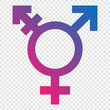 Illustration of transgender symbol