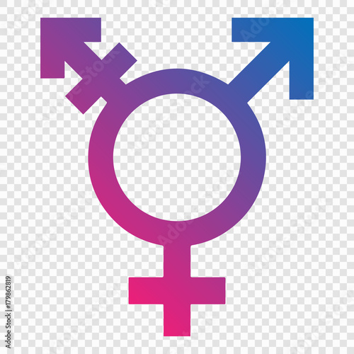 Illustration of transgender symbol Wall mural