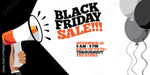 Black friday sale background. For the friday after Thanksgiving. EPS 10 vector.