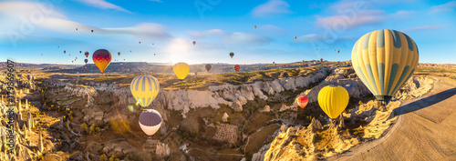 Poster de jardin Montgolfière / Dirigeable Hot air Balloons flight in Cappadocia