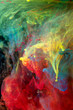color abstraction, inks in water, color explosion