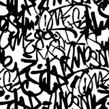 Fototapeta Młodzieżowe - Vector graffiti seamless pattern with abstract tags