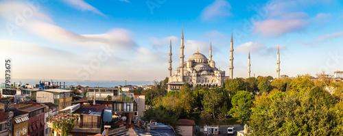 Deurstickers Turkije Blue mosque in Istanbul