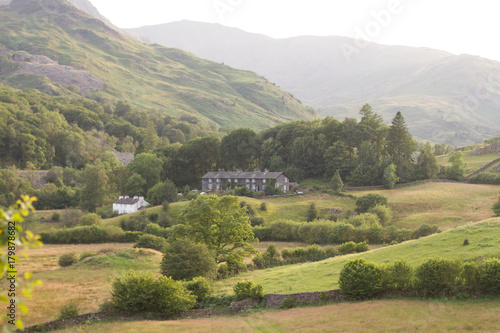 Canvas Prints Honey Langdale Valley landscape in the Lake District, England