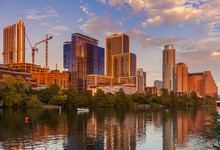 Austin, Texas With New Buildin...