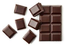 Dark Chocolate Pieces Top View