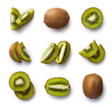Fresh Kiwi Isolated On White B...