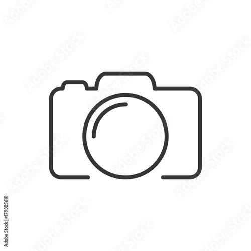 Fotografiet Photo camera silhouette, icon