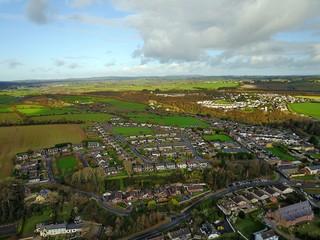 Fototapeta na wymiar Irland aus der Luft