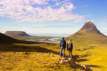 Trekking In Iceland Near Kirku...