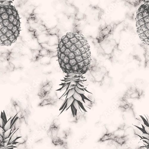 modernistyczna-z-monochromatycznym-wzorem-ananasa-na-marmurowym-tle