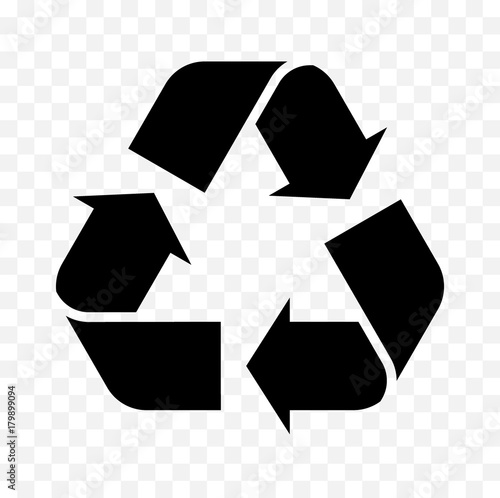 recycle symbol icon Wall mural