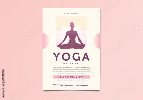 Yoga Flyer. Buy this stock template and explore similar templates at ...