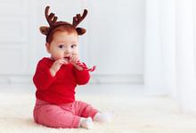 Cute Little Redhead Baby Boy W...
