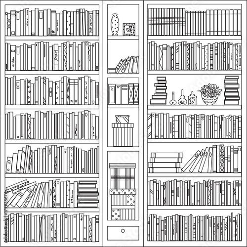 Книжный шкаф Canvas Print