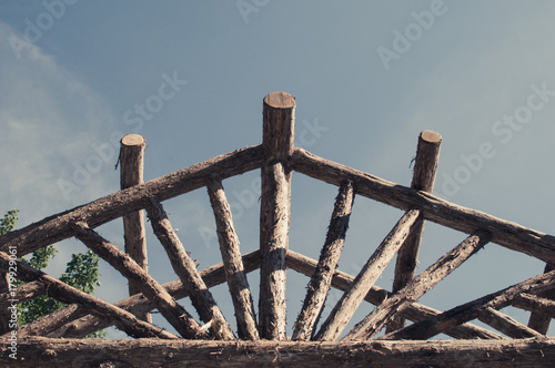 Abstract Outdoor Wooden Canopy Roof Structure Roof Wood Stick Design Outdoor Park Architecute And Design Nature Design Background Buy This Stock Photo And Explore Similar Images At Adobe Stock Adobe Stock